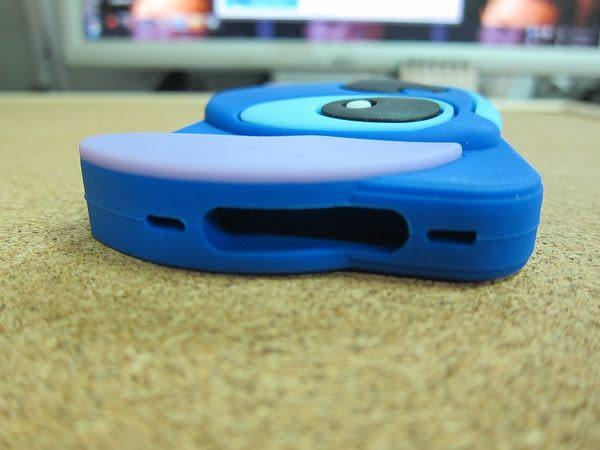 【世明國際】-i4s3-蘋果IPhone4/4s橫版立體3D史迪奇蘋果保護殼手機套卡通軟殼