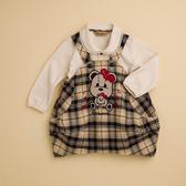 【金安德森】KA愛心熊格紋女童裙子套裝(共二色)