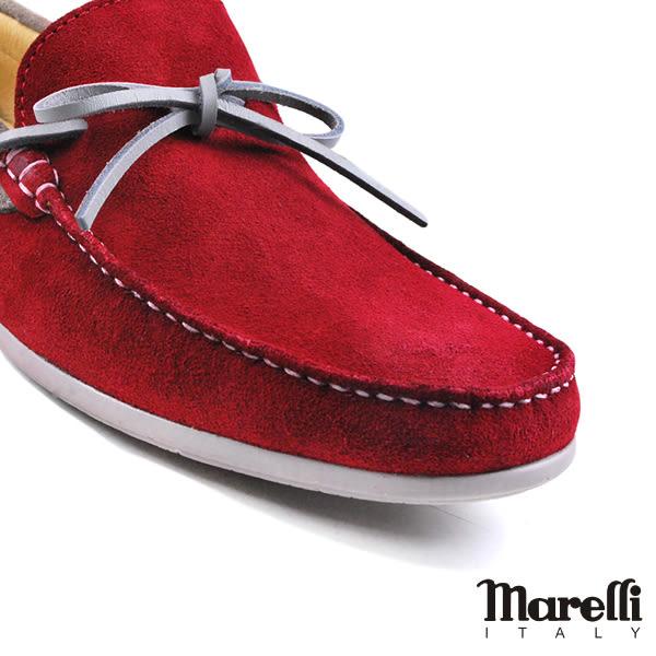 【Marelli】反絨帆船休閒鞋 紅色(54958-BURS)