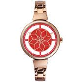 情人節限定 RELAX TIME RT63 綻放光彩手錶-紅x玫塊金/36mm RT-63-10