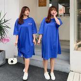 YOYO 中大尺碼連身裙 棉質中長款寬鬆直筒裙子 2色(XL-2L)AH1060