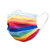 【3期零利率】預購 RM-A106 一次性防護彩虹口罩 50入/包 3層過濾 熔噴布 高效隔離汙染 (非醫療)