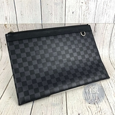 BRAND楓月 LOUIS VUITTON LV 路易威登 N60336 DISCOVERY POC 手拿包 iPad包
