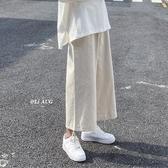 闊腿褲女新款棉麻褲寬鬆亞麻褲子直筒高腰顯瘦九分束腳