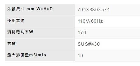 【歐雅系統家具】林內 Rinnai 水洗+電熱除油排油煙機 RH-8033S(80CM)