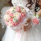 爆款新款韓版仿真新娘伴娘手捧花婚禮攝影道具 贈胸花手腕花『潮流世家』