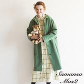 ❖ Winter ❖ 蕾絲拼接格紋開襟連身洋裝 (提醒➯SM2僅單一尺寸) - Sm2