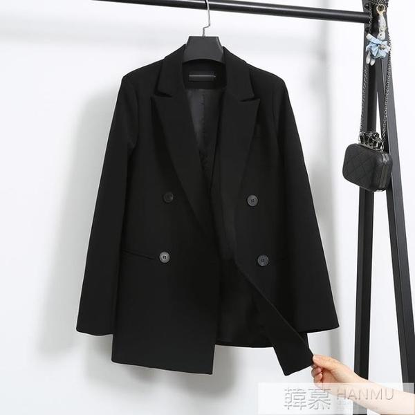 網紅小西裝外套女2020春秋新款寬鬆氣質韓版休閒英倫風西服外套女 牛轉好運到