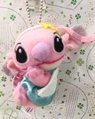 【震撼精品百貨】Stitch_星際寶貝史迪奇~絨毛吊飾-粉*18759