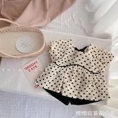 女童夏裝套裝2021新款夏季洋氣時髦兒童短袖泡泡袖女寶寶兩件套 快速出貨