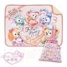 小花花日本精品迪士尼2020情人節限定達菲雪莉玫史黛拉畫家貓曲奇安車用毯毛毯加束口收納袋提袋