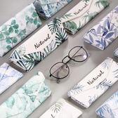 眼鏡盒韓國風小清新復古優雅折疊太陽眼睛墨鏡盒  YI211 【123休閒館】