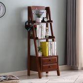 簡易書櫃書架 創意收納小架子客廳花架儲物櫃家用臥室落地置物架 LJ5439【極致男人】