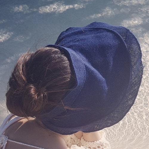 草帽 素色 空頂 防曬 遮陽 沙灘 鴨舌帽【NC017】 BOBI  04/27