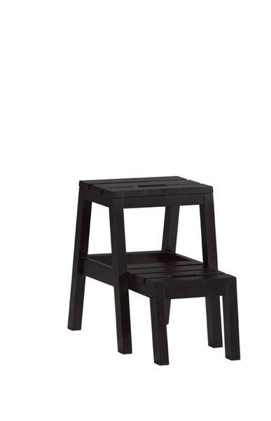 8號店鋪 森寶藝品傢俱 a-01 品味生活    餐椅系列 1030-11 查理多功能樓梯椅(黑色)