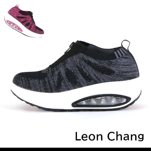 女款 Leon Chang 雨傘牌 美體塑身編織 氣墊底增高鞋 厚底鞋 健走鞋 休閒鞋 氣墊鞋 遙遙鞋 59鞋廊
