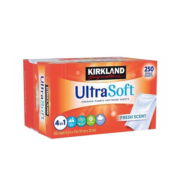 (美國直購) Kirkland Signature Fabric Softener Sheets, 250-count, 1-pack