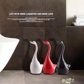 (超夯免運)馬桶刷 馬桶刷浴室長柄軟毛廁所刷子陶瓷底座創意天鵝衛生間清潔歐式套裝xw