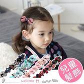 兒童蝴蝶結布藝髮飾 髮飾8件組