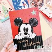 正版 迪士尼 DISNEY 米奇米妮 聖誕節卡片 耶誕卡片 大卡片 附信封 D款 COCOS XX001