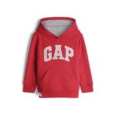 Gap男幼童 Logo棉質縮口連帽上衣 567929-正紅色