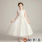 ALB-女童洋裝長款婚紗禮服兒童蓬蓬演出...