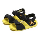 ADIDAS 涼鞋 迪士尼 ALTASWIM 布魯托 黑黃 休閒 童鞋 小童 (布魯克林) FW6038