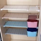 浴室置物架 衣櫃收納分層隔板櫃免釘置物架櫥櫃浴室分隔層架伸縮整理架【快速出貨八折下殺】