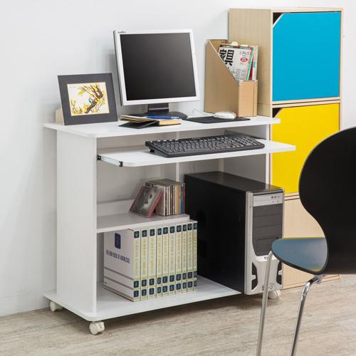 電腦桌 桌子 收納 【收納屋】純白多功能電腦桌&DIY組合傢俱