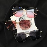 同款眼鏡女 墨鏡女正韓潮 金屬素顏顯瘦復古圓臉太陽鏡三角衣櫥
