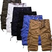 短褲 七分-舒適寬鬆多口袋流行男工裝褲6色73ml54[巴黎精品]