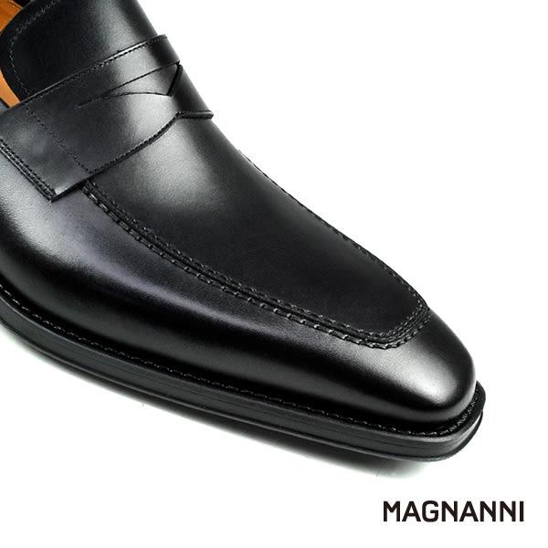 【MAGNANNI】U-tip樂福紳士皮鞋 黑色(15956-BL)