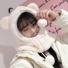 保暖帽 帽子女秋冬季甜美可愛冬天毛絨圍巾一體韓版護耳保暖電動車雷鋒帽 雙十二狂歡