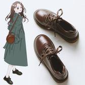 小皮鞋  冬季新款韓版百搭ulzzang皮鞋英倫單鞋ins小皮鞋女潮復古平底 韓菲兒