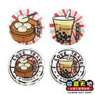 【收藏天地】圓形冰箱貼- 台灣美食 4款 ∕ 白板貼 磁鐵 文創 家飾 居家