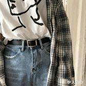 皮帶 韓版百搭長方形扣復古黑色皮帶學生青年皮帶休閒褲帶女  ys4469『伊人雅舍』