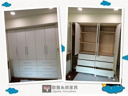 【歐雅系統家具】系統家具 / 文化石/ 輕隔間設計 『臥室空間-系統衣櫃』