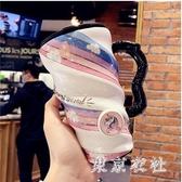 創意個性大容量馬克杯咖啡帶蓋陶瓷杯可愛女學生家用喝水杯子 LF5450【東京衣社】