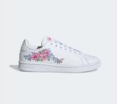 Adidas FARM RIO ADVANTAGE SHOES 女款花漾白色休閒鞋-NO.EF0130