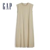 Gap女裝簡約風格圓領無袖洋裝583635-米黃色