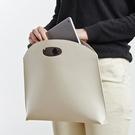 韓國新款女包手提包時尚簡約手拿包OL氣質通勤包文件包女式公文包 夢幻小鎮