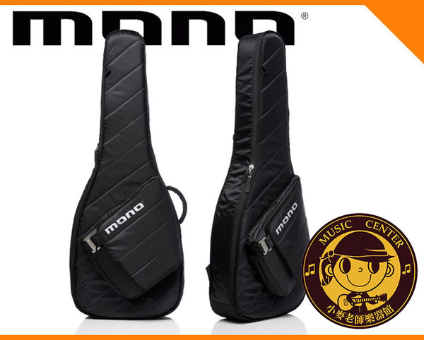 【小麥老師樂器館】MONO M80-SAD-BLK 木吉他 民謠吉他袋 吉他袋 背袋 琴袋 吉他