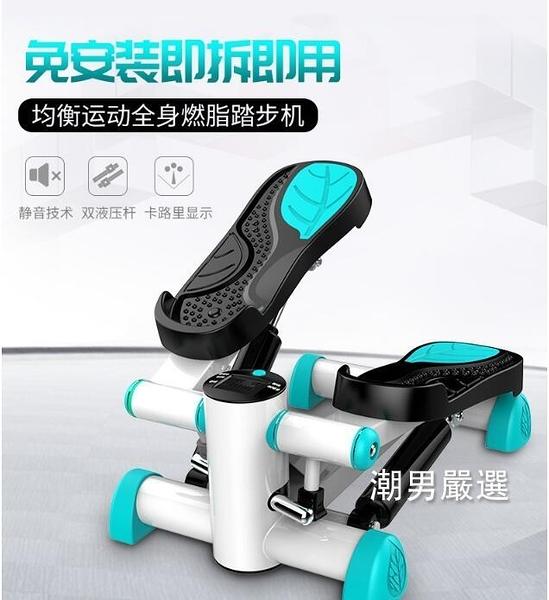 踏步機踏步機家用靜音機原地腳踏機健身運動器材迷你踩踏機瘦腿xw