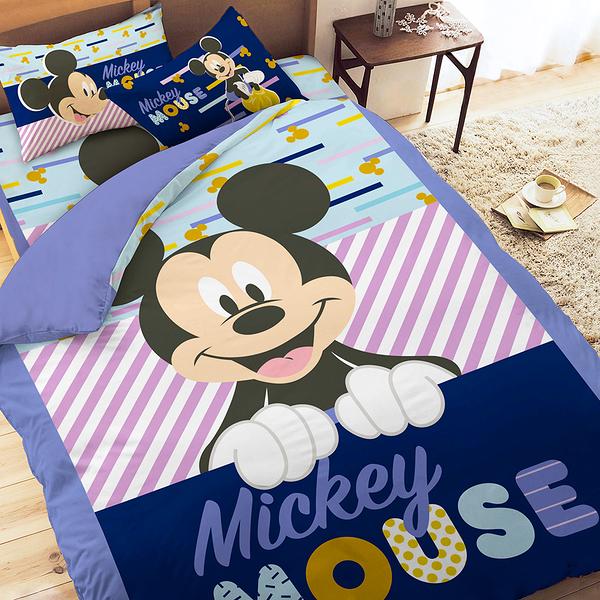 床包被套組 / 雙人加大【迪士尼花樣米奇】含兩件枕套 高密度磨毛 戀家小舖ABF312
