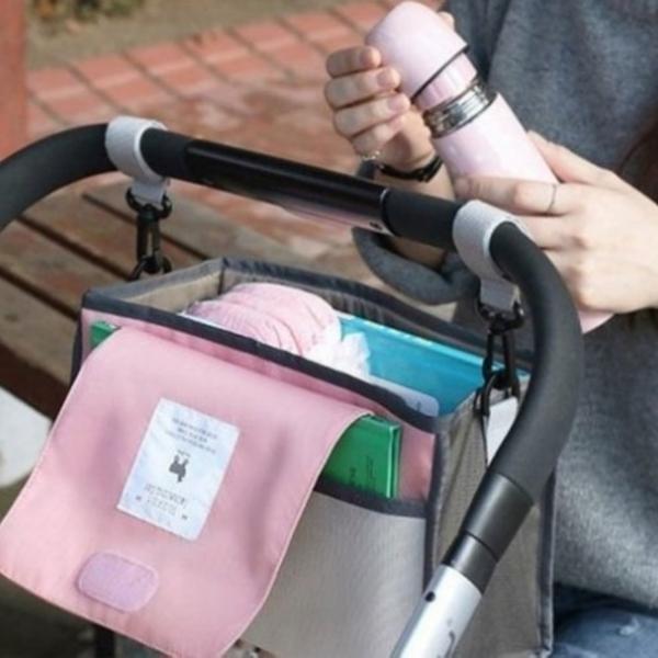 漂亮小媽咪 嬰兒車掛袋 【BW1200】 掛包 娃娃車 掛鉤 收納 掛袋 置物袋 媽咪包 推車 手推車