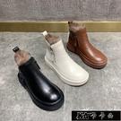 現貨馬丁靴女2020年冬季新款純皮雙拉鏈...
