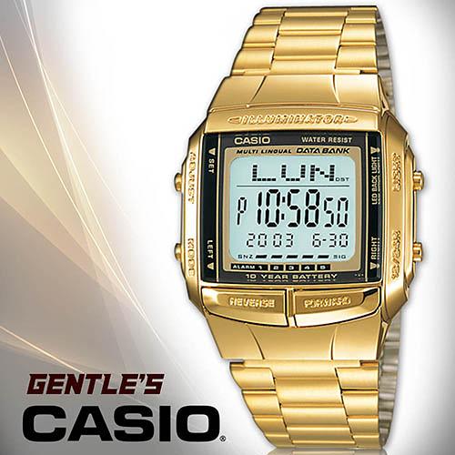 CASIO 手錶專賣店 卡西歐 DB-360G-9A  DATA BANK系列 男錶 頭文字D  不繡鋼錶帶 可調式帶扣