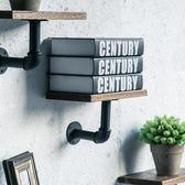 客廳裝飾架 書架 墻上裝飾墻面置物架壁掛美式復古工業風鐵藝水管隔板jy【限時特惠八折下殺】