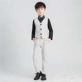 男童禮服童裝男童禮服套裝秋英倫風中大童走秀鋼琴演出服時尚帥氣四件套 PA9578『男人範』