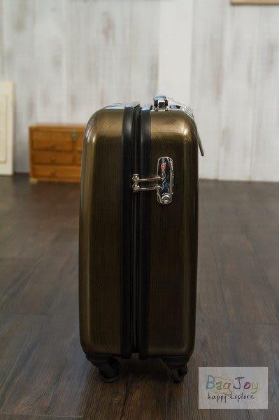 Yue 鏡面質感髮絲紋硬殼拉鍊箱 20吋 - 金色(8120Z共三色)